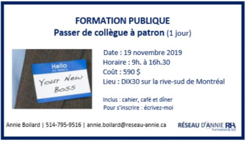 annonce Formation publique 19 novembre